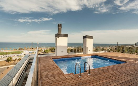Barcelona Poblenou Bright Flat First Line Sea With Swimming-pool